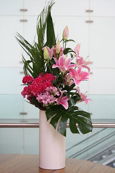Mixed Lilies Display