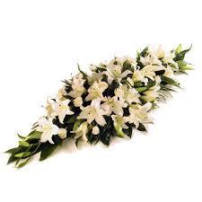 all lilies casket spray