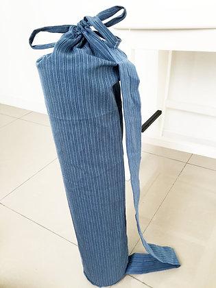 Classic Dark Blue Striped Fabric
