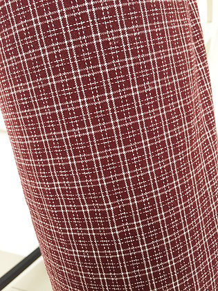 Rect - Maroon fabric - mild mannered style