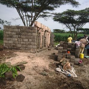Bau des Sanitärhauses