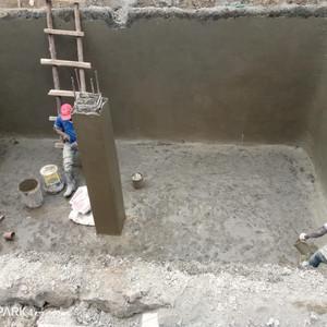 Bau des Wassertanks 12/2020