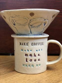 Make stuff mug and coffee pour over