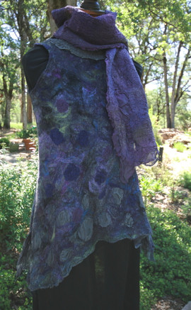 Iris Garden Tunic and Scarf