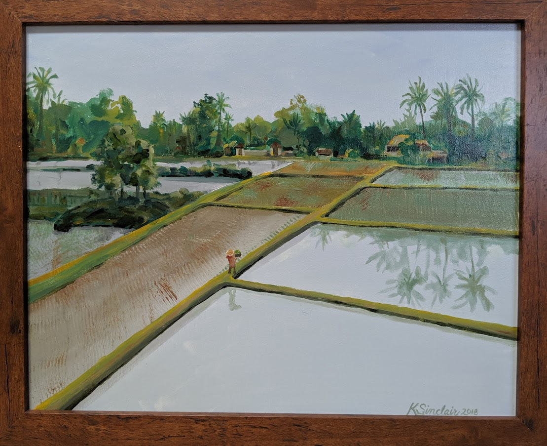 2019 ubud rice field painting