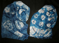 Silk indigo Kumo & Silk Indigo Itajime.j