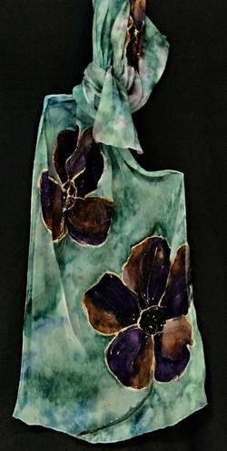 Shibori gauze scarf sea green_blue scarf