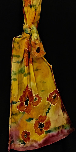 orange_gold poppies gauze