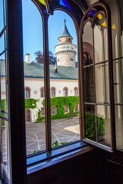 Sychrov Chateau Window 1, Prague_5760