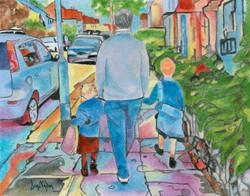 Granddads Walk to School