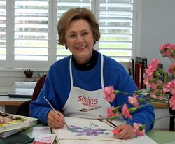 Sonja in her studio