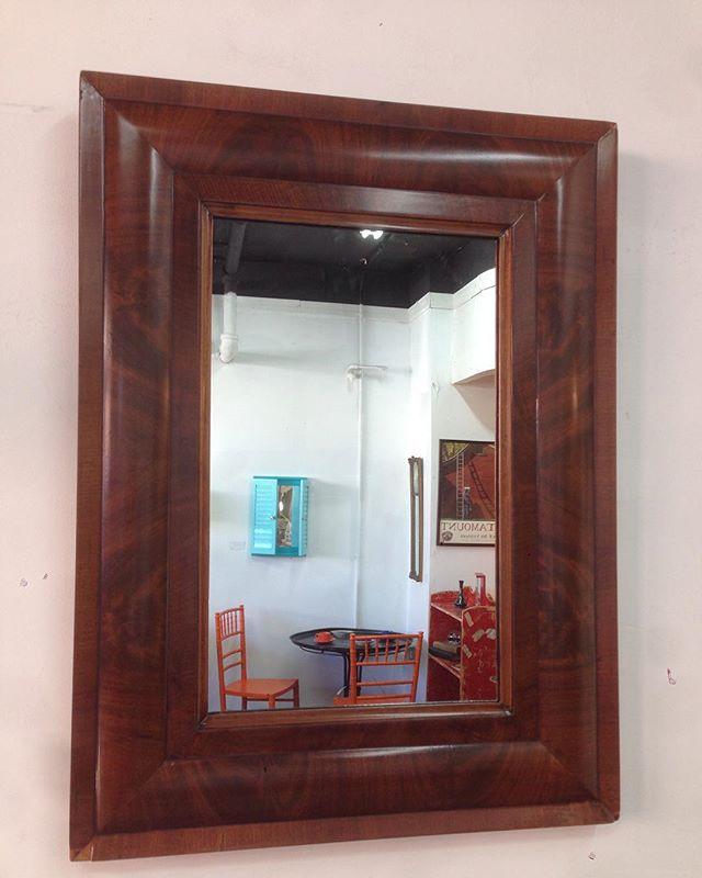 antique Art Deco mirror $125