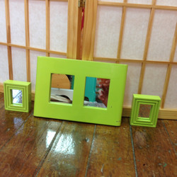 Set of 3 Limeade Mirrors $20
