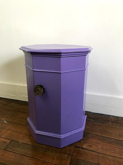 Octagonal cabinet in Custom Purple