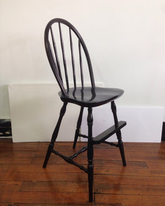 Antique toddler chair in Custom Black
