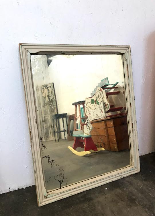 Antique Distressed Mirror $30