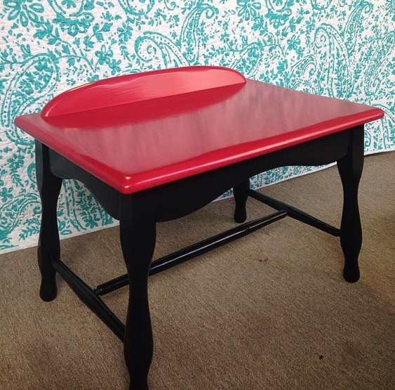 Tabletop Writing Desk in Cherry Burst & Custom Black
