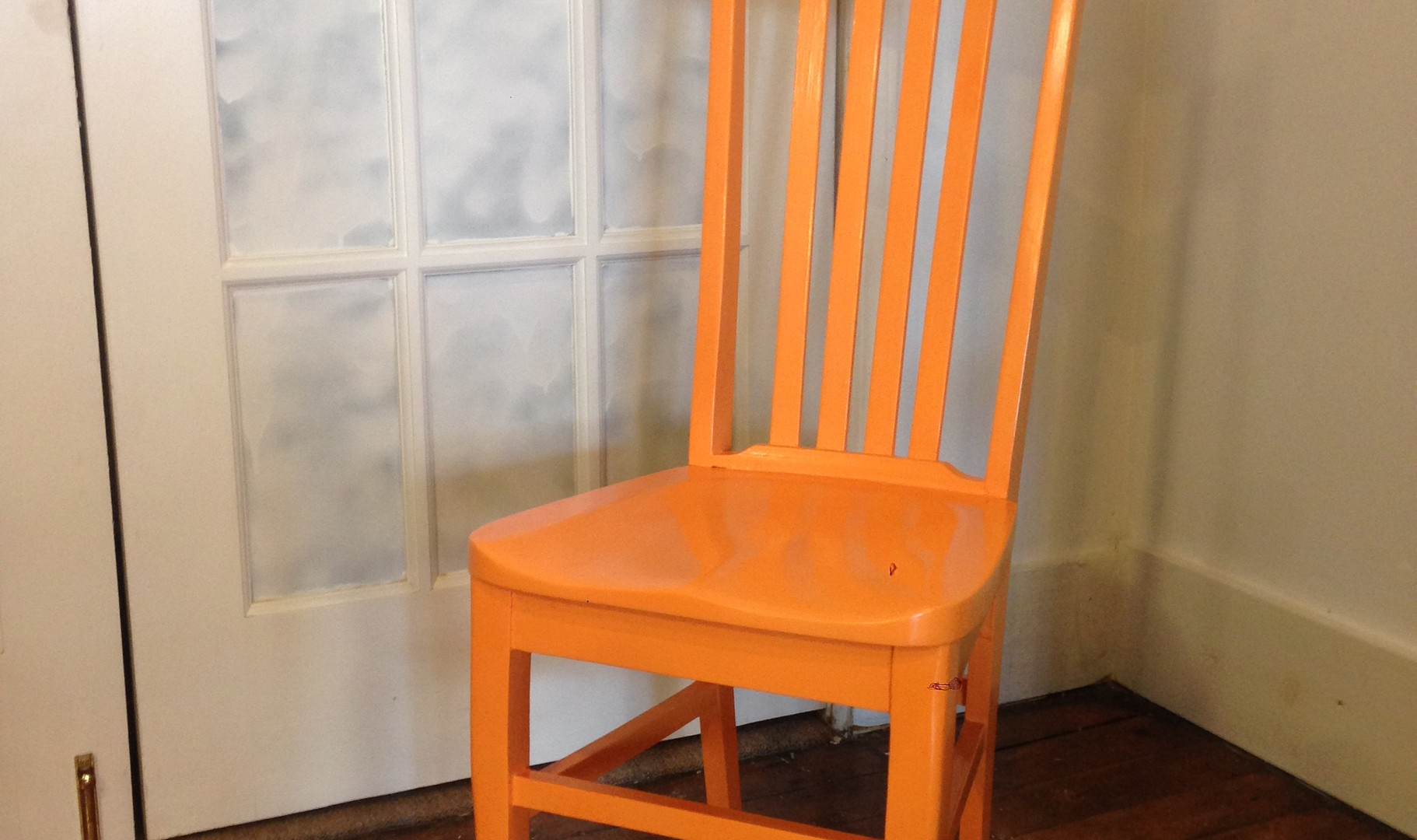 Skinny Chair in Carrot Stick