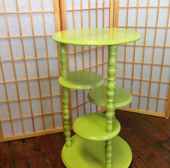 Round Tiered Shelves in Limeade