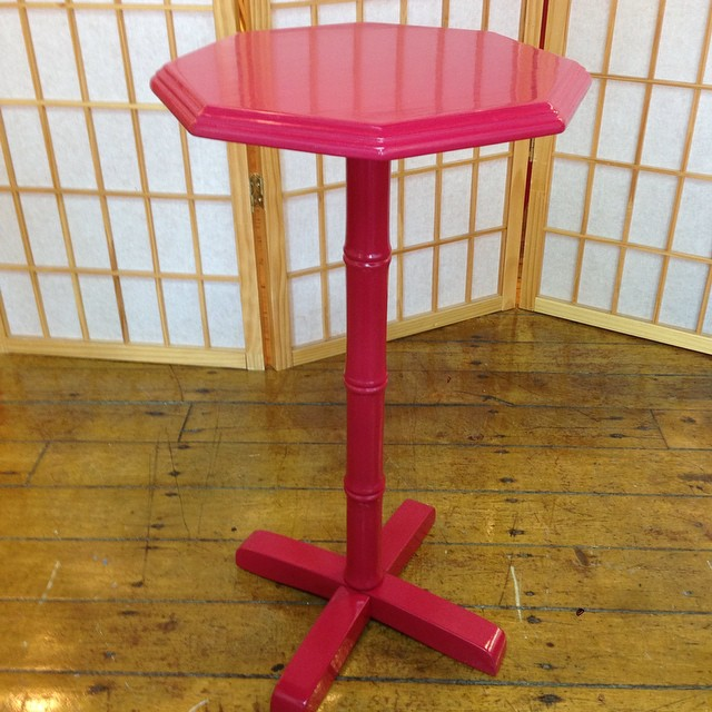 small octagonal plant stand