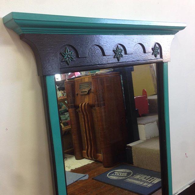antique standing mirror $325