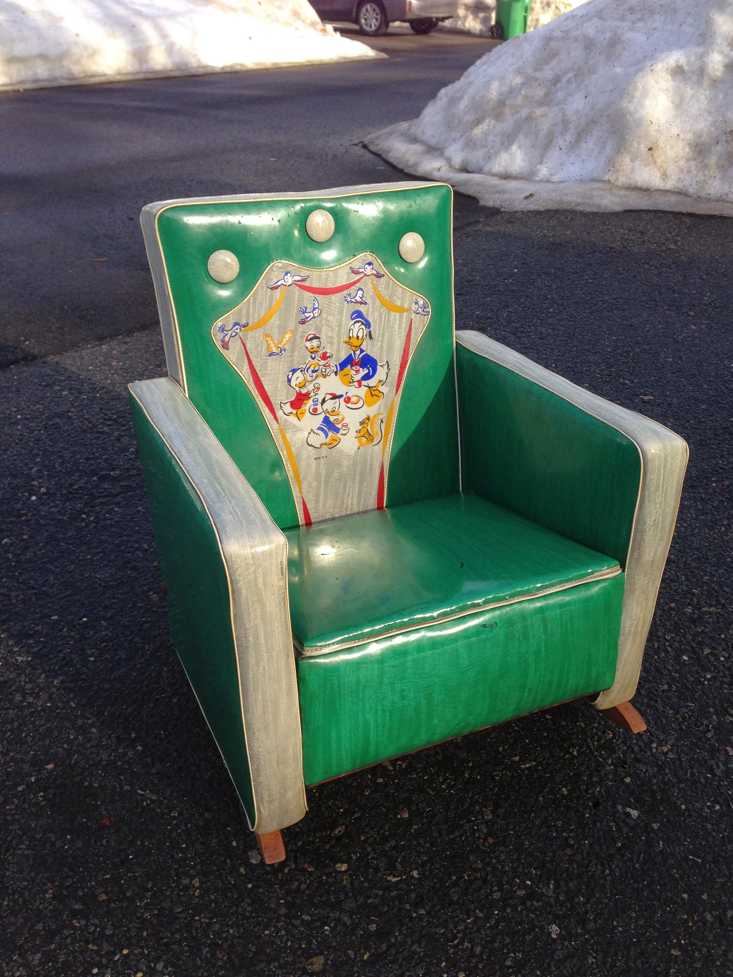 vintage Disney upholstered rocker