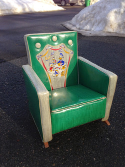 vintage Disney upholstered rocker