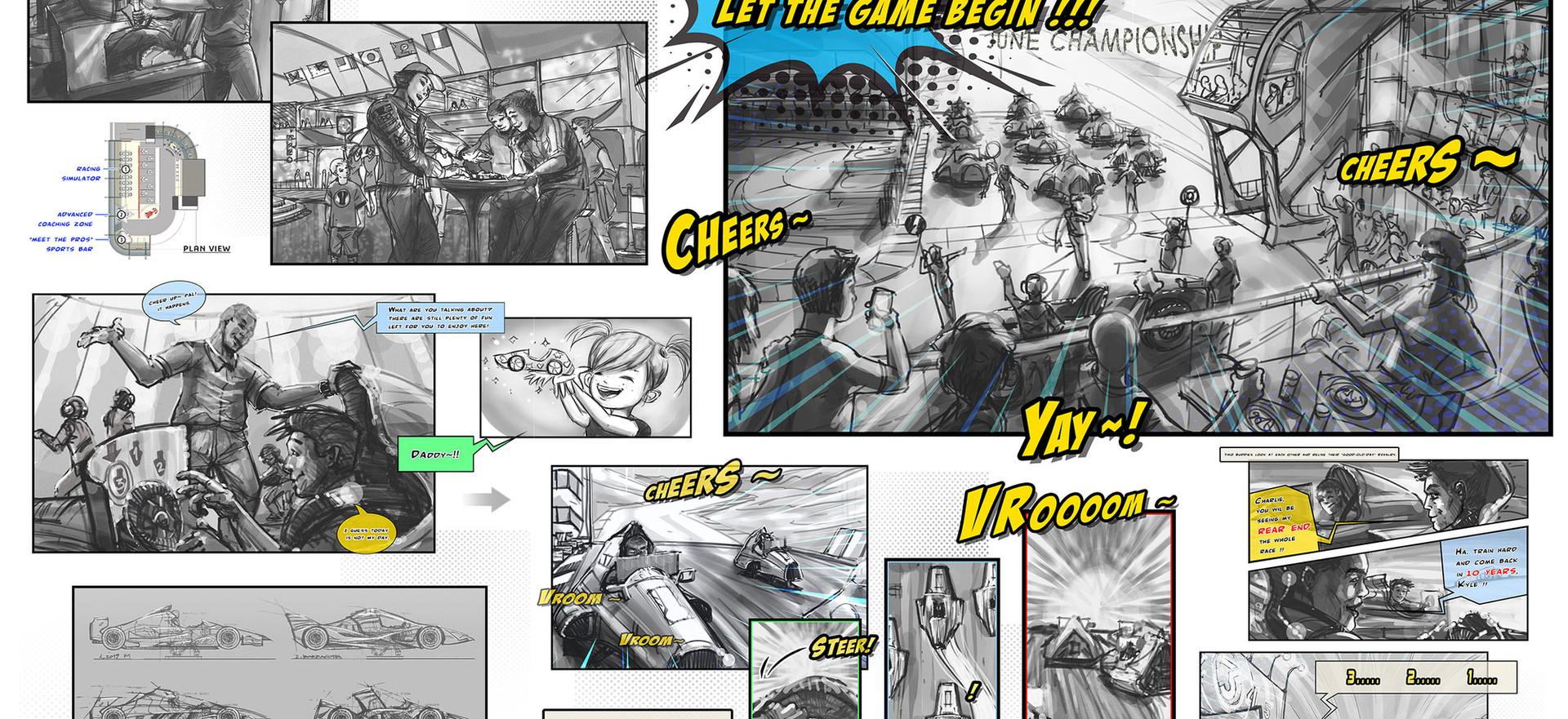 eSports Speed Race Concept Design & Storyboard
