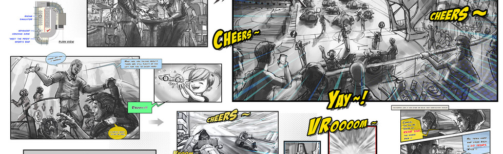 eSports Speed Race Concept Design & Storyboard