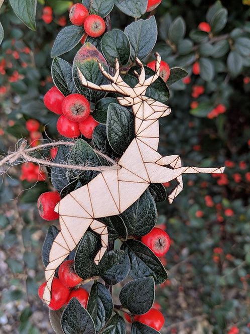 Jessica Cora, Lasercut Reindeer Decoration