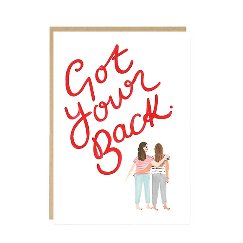 Jade Fisher, Got Your Back Greeting Card