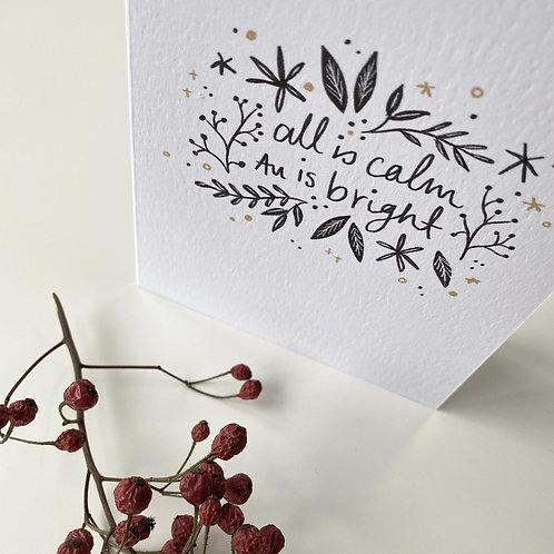 Juniper Press, All is Calm Greeting Card