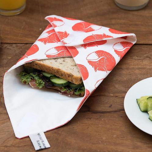 The Owlery Prints, Reusable Sandwich Wrap, Fox