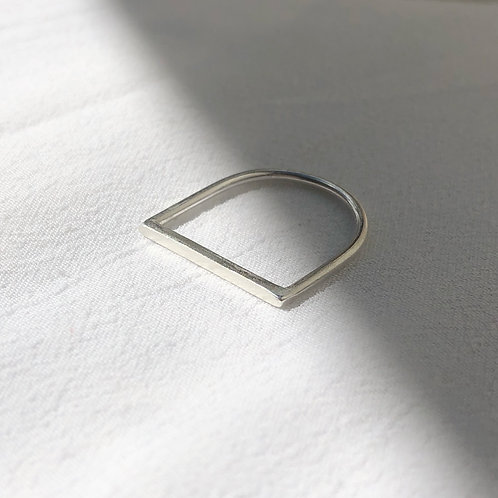 Wild Nora Slimline Straight Edge Recycled Silver Ring
