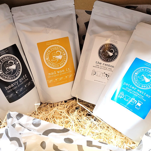 Pure Roasters, Ground Coffee, Gift Box