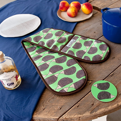 The Owlery Prints, Double Oven Gloves, Hedgehog
