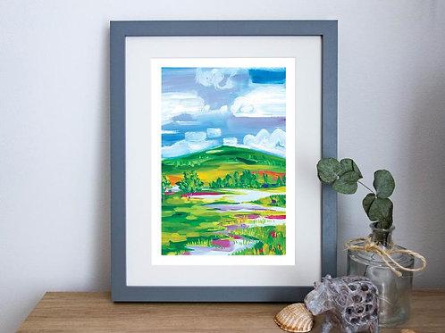 Magdalena Werner Glencoe Swamps & Rivers Print, A4
