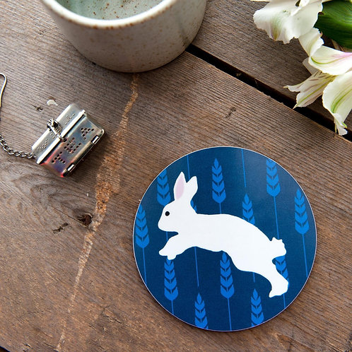 The Owlery Prints, Rabbit Coaster