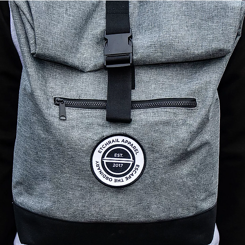 Etchrail Grey Roll Top Backpack