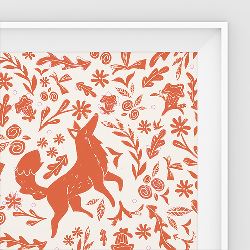 Magda Creative, Fox Print, Square