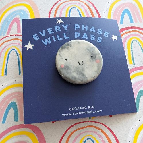 RaRa Made It, Moon Ceramic Pin