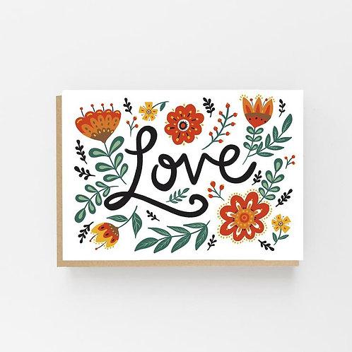 Lomond Paper Co, Folk Love Greeting Card