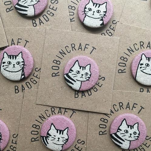Robincraft Cat Badges, Assorted Designs, Pink & Blue