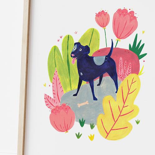 Magda Creative, Staffie Dog Print, A4