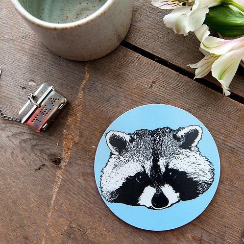 The Owlery Prints, Raccoon Coaster
