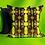 Thumbnail: Art Deco Velvet Cushion, Canary Green, 50cm x 50cm