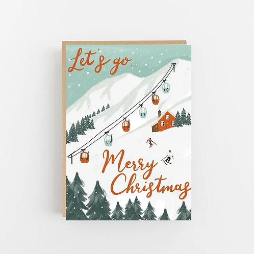 Lomond Paper Co, Let's Go Merry Christmas Greeting Card
