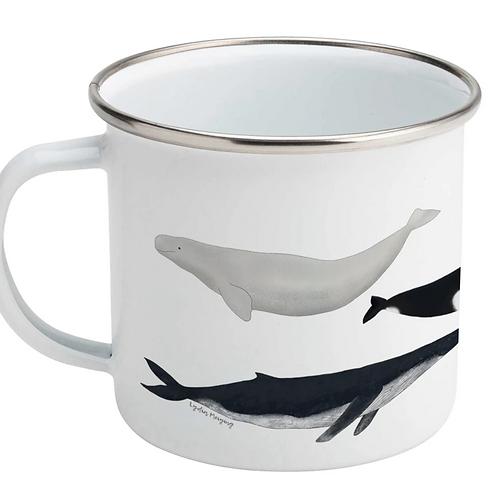 Lydia Meiying, Whale Design Enamel Mug