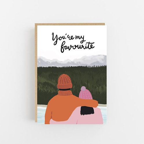 Lomond Paper Co, You're My Favourite Greeting Card
