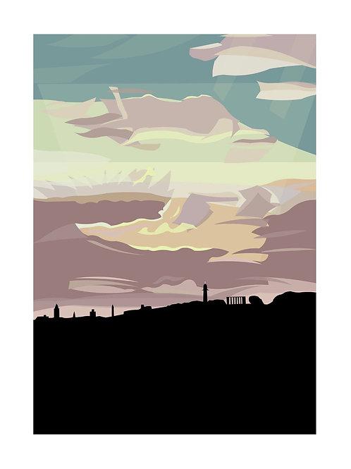 She's Some Nick, Edinburgh Skyline Print, A5, A6